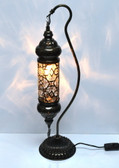"Turkish Blown Glass Camel Neck Lamp  - 6"" x 22"" - DS1B - Clear"