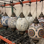 Giant Mosaic Egg Shape Lamp (Assorted Colors and Styles)