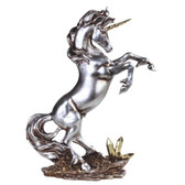 "13 3/4"" Silver Unicorn GS92056"