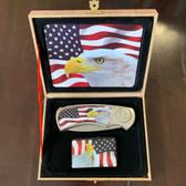 Bald Eagle Knife / Lighter Gift Box