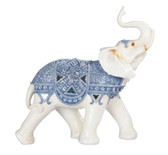 "12 1/2"" Blue/White Thai Elephant 88224"