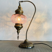 """Traditional Ottoman 18"""" Camel Neck Lamp with Crackle Glass Assorted"""