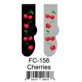 Cherries Foozys Womens Socks FC-156