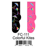 Colorful Kites Foozys Womens Socks FC-111