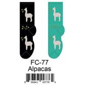 Alpacas Foozys Womens Socks FC-77