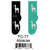 Alpacas Foozys Womens Socks FC-77