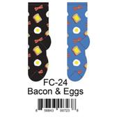 Bacon & Eggs Foozys Womens Socks FC-24