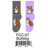 Bulldog Foozys Unisex Dog Socks FCC-07