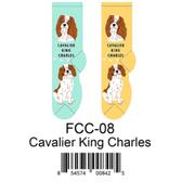 Cavalier King Charles Foozys Unisex Dog Socks FCC-08
