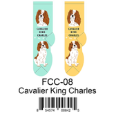 Cavalier King Charles Foozys Unisex Dog Socks FCC-08