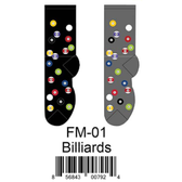 Billiards Foozys Mens Socks FM-01