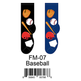 Baseball Foozys Mens Socks FM-07