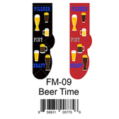 Beer Time Foozys Mens Socks FM-09