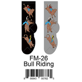 Bull Riding Foozys Mens Socks FM-26