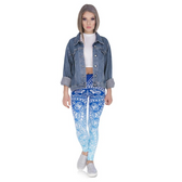 Stretch Leggings Blue Mandala J44544 (Universal Sizing)