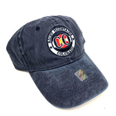 Rocky Mountain Colorado Adjustable Flat Brim Baseball Hat (DARK BLUE)