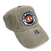 Rocky Mountain Colorado Adjustable Flat Brim Baseball Hat (GREY)
