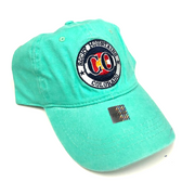 Rocky Mountain Colorado Adjustable Flat Brim Baseball Hat (TEAL)