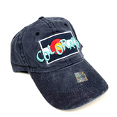 Colorado Flag w/ Funky Colorado Adjustable Flat Brim Baseball Hat (BLUE)
