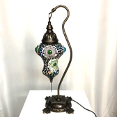 """Pear Shaded Turkish Mosaic Camel Table Lamp 9""""x16.25"""" - DBP - Assorted"""