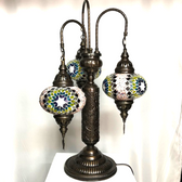 3 Shade Lilly Mosaic Turkish Lamp B3 Assorted Colors