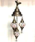 4 Bulb Turkish Mosaic Chandelier
