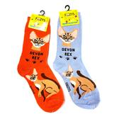 Devon Rex Feline Cat Foozys Socks FFC-08