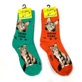 Maine Coon Feline Cat Foozys Socks FFC-11