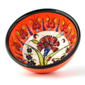 Nimet Traditional Turkish Porcelain Bowl 8cm by Paykoc N20005 Orange
