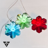 CR92107 35mm Snow Flake Colored Crystal