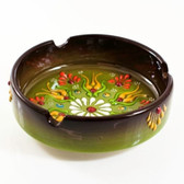 Nimet Deluxe Turkish Porcelain Ashtray 10cm by Paykoc N83010 Brown and Green
