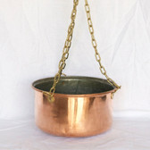 Hanging Copper Pot - Side