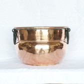 Copper Cauldron Iron Handles - Side
