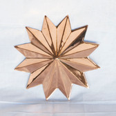 Copper Star Wall Art - Polished