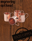 Mini Moscow Mule Xmas Ornaments, Shot 4 Pack, 1 ounce by Paykoc