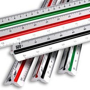 Rumold Plastic Triangular Scale Ruler