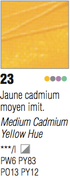 Pebeo Studio Acrylic - Medium Cadmium Yellow Hue