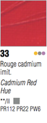 Pebeo Studio Acrylic - Cadmium Red Hue