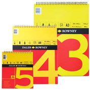 Daler Rowney - Red & Yellow Spiral Cartridge Pad 150gsm