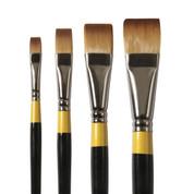 Daler Rowney - System 3 - SY55 Synthetic Brush - Short Flat