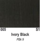 Atlantis Artist Oils - Ivory Black S1