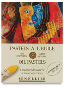 Sennelier Oil Pastels - Set of 6 Assorted Colours