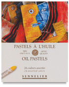 Sennelier Oil Pastels - Set of 24 Assorted Colours