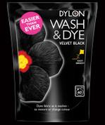 Dylon Wash & Dye Fabric Dye - Velvet Black 400gsm