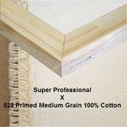 Bespoke: Super Professional x Universal Primed Medium Grain 100% Cotton Duck 528c