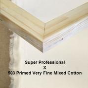 Bespoke: Super Professional x Primed Very Fine Grain Mixed Weave Cotton Duck 503.