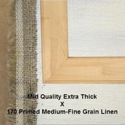 Bespoke: Mid Quality x Universal Primed Fine Grain Linen 170