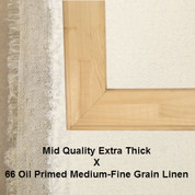 Bespoke: Mid Quality x Oil Primed Medium Fine Grain Linen 66
