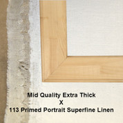 Bespoke: Mid Quality x Universal Primed Portrait Superfine Linen 113