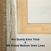 Bespoke: Mid Quality x Universal Primed Medium Grain Linen 509